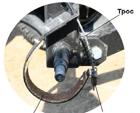 Тормоза для адаптера мотоблока