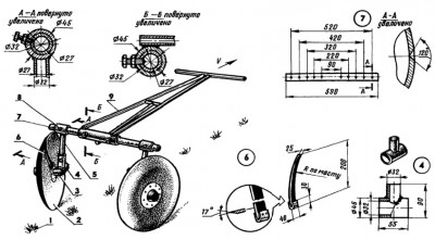 дисковый окучник для мотоблока своими руками чертежи