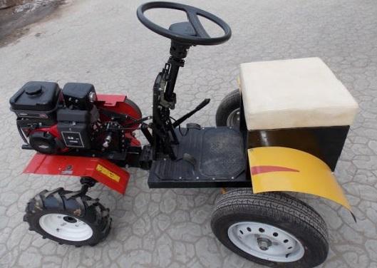 Минитрактор своими руками с двигателем от мотоблока фото 702