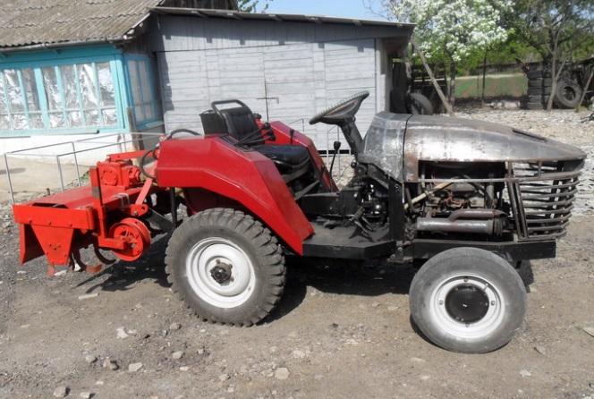 На готовую раму трактора
