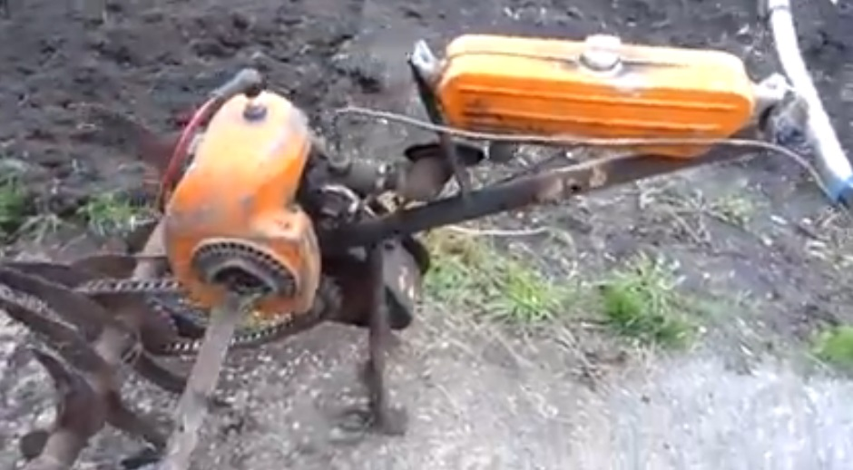 Мотокультиватор из бензопилы своими руками 82