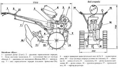 самодельный мотоблок с двигателем мотоцикла фото