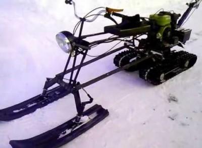 Приставка к мотоблоку снегоход фото