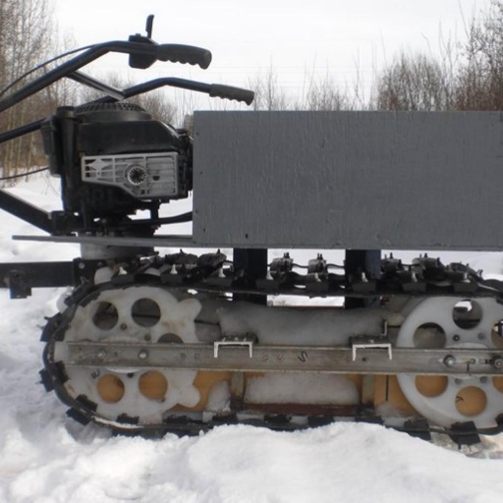 Снегоходная приставка к мотоблоку своими руками 63