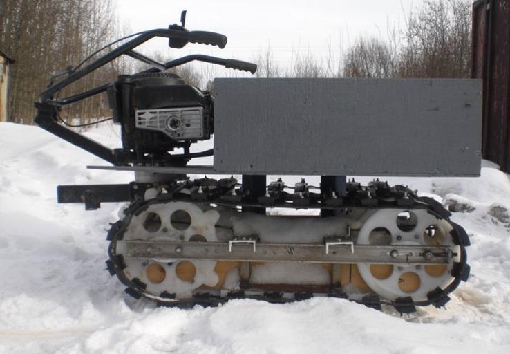 Снегоходная приставка на мотоблок своими руками