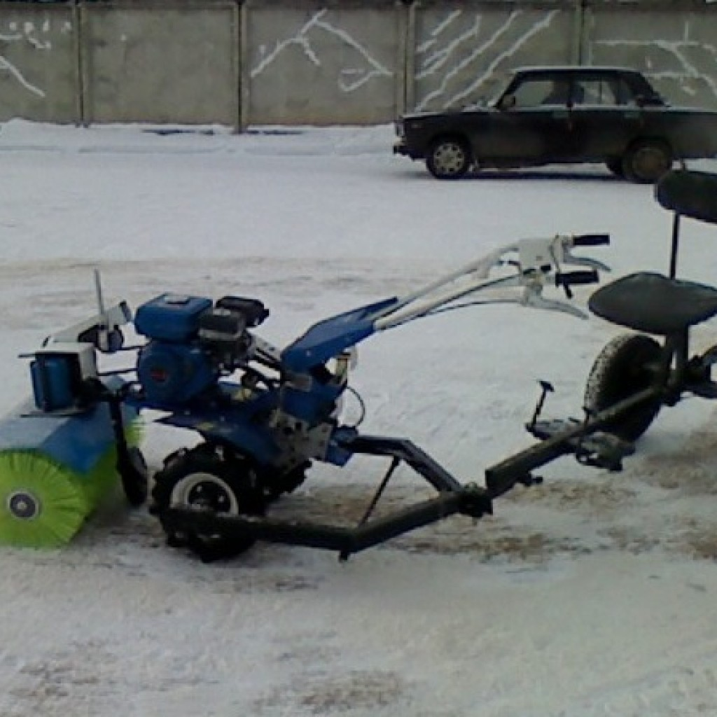 Как сделать снегоуборщик на мотоблок крот