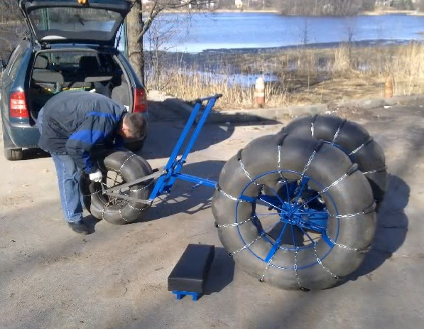 Самодельный снегоход на базе мотоблока - как сделать колеса? motoblok-kultivator