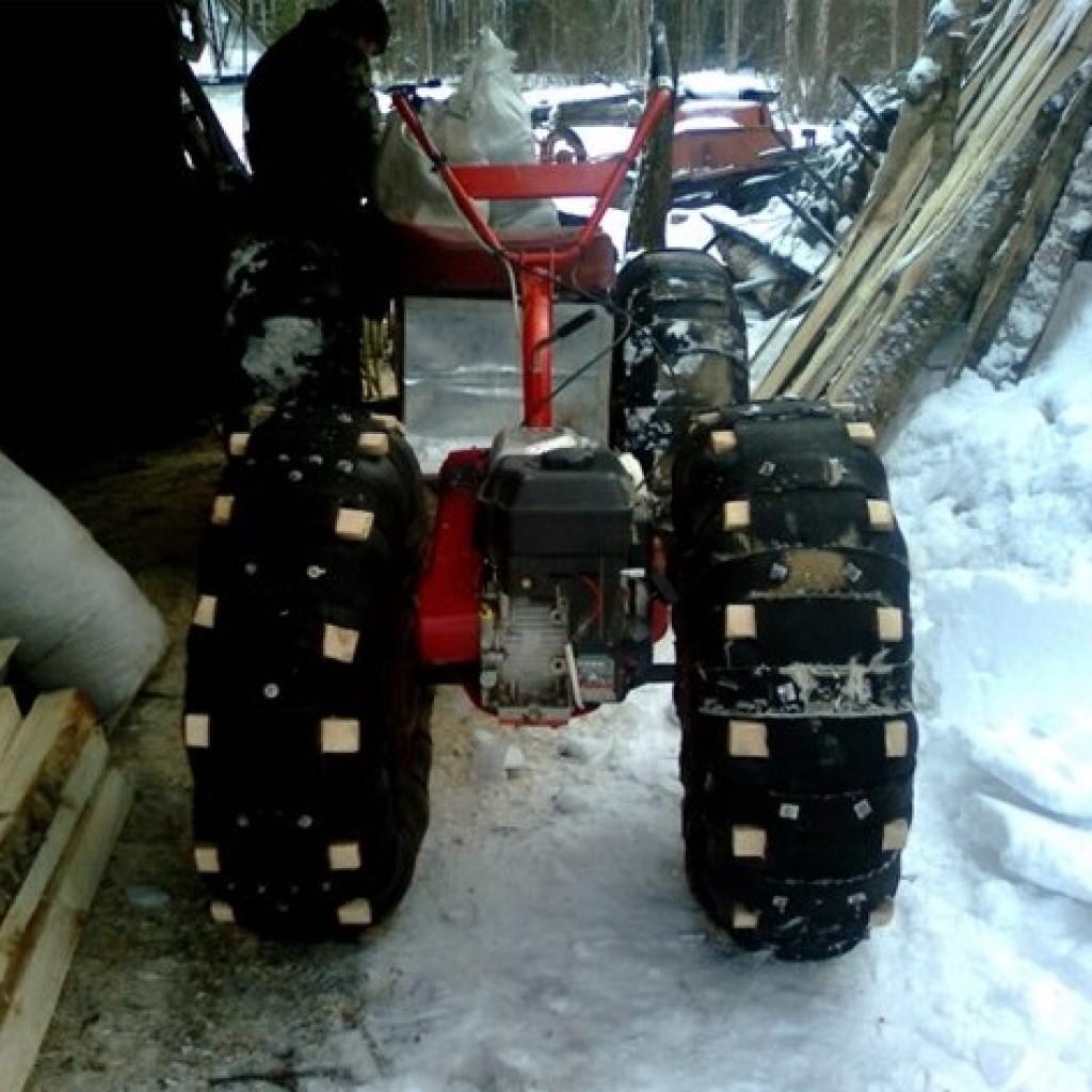 Как сделать из мотоблока в снегоход