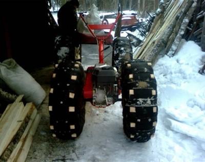 Снегоход на базе мотоблока фото