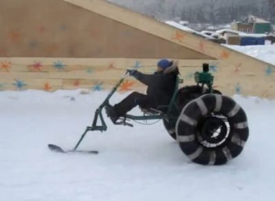 Колесный снегоход своими руками