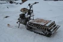 Делаем  самоделки — снегоход из мотоблока видео и описание