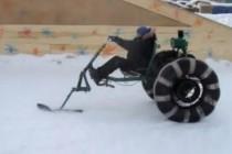 Снегоход на базе мотоблока, описание фото и видео